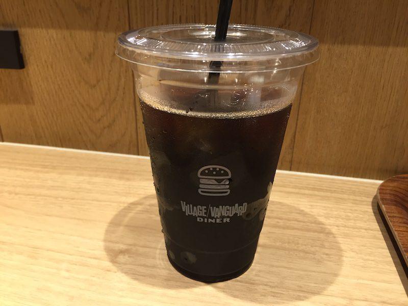 ヴィレッジヴァンガードダイナー赤池店アイスコーヒー