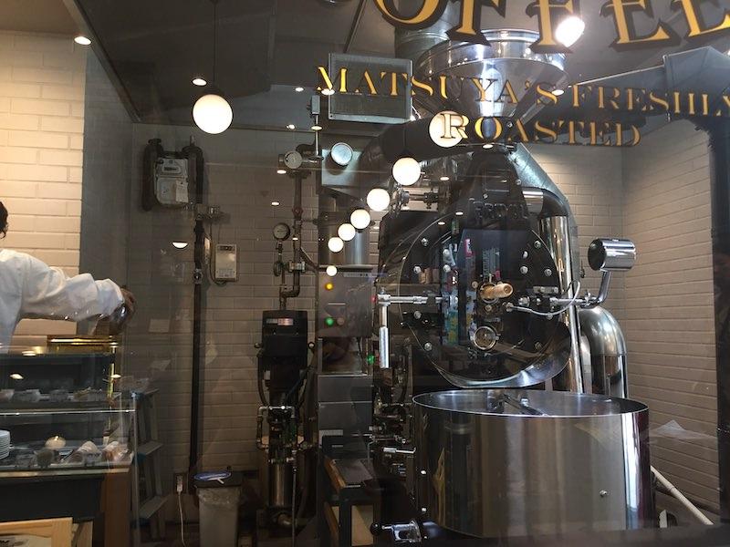 「松屋コーヒー大須本店」の店内から観れる機械